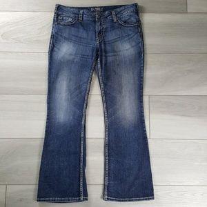 Silver Suki Womens Bootcut Jeans Size 33x32